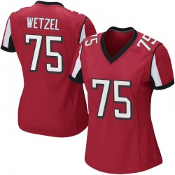 John Wetzel Atlanta Falcons Women's Game Team Color Nike Jersey - Red